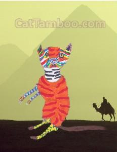 cat art egypt
